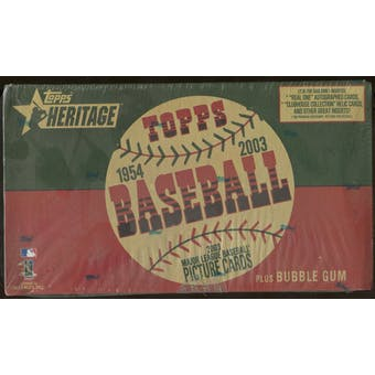 2003 Topps Heritage Baseball Retail Box