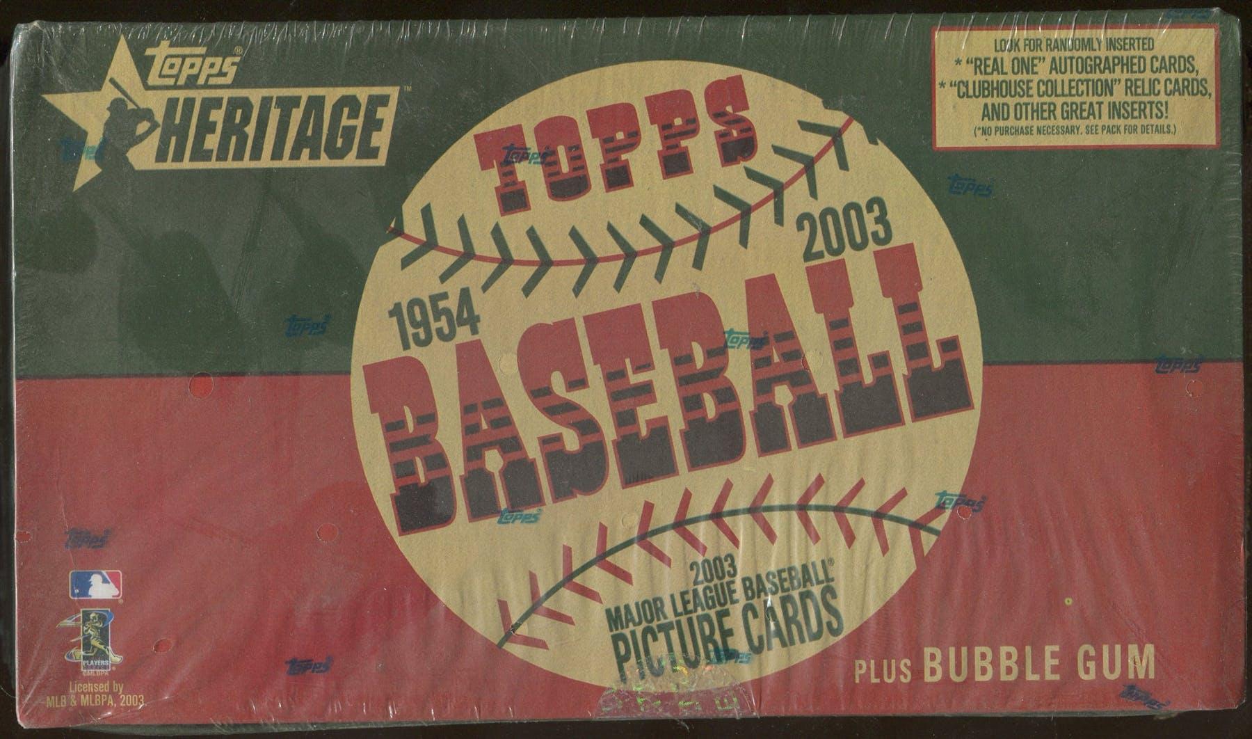 2003 Topps Heritage Baseball Retail Box Da Card World