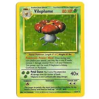 Pokemon Jungle Single Vileplume 15/64 - Error No Set Logo