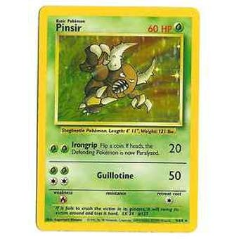 Pokemon Jungle Single Pinsir 9/64 - Error No Set Logo