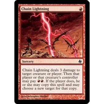 Magic the Gathering Premium Deck Single Chain Lightning Foil
