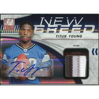 2011 Donruss Elite New Breed Jersey Autographs Prime #32 Titus Young Patch /10