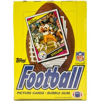1984 Topps Football Wax Box