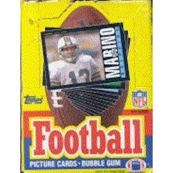 1985 Topps Football Wax Box