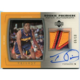 2005/06 Upper Deck Trilogy Rookie Premiere Patches Autographs #ID Ike Diogu 8/10