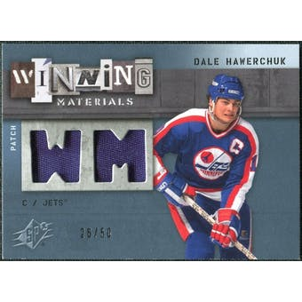 2009/10 Upper Deck SPx Winning Materials Spectrum Patches #WMDH Dale Hawerchuk /50