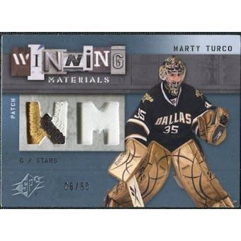 2009/10 Upper Deck SPx Winning Materials Spectrum Patches #WMMT Marty Turco /50