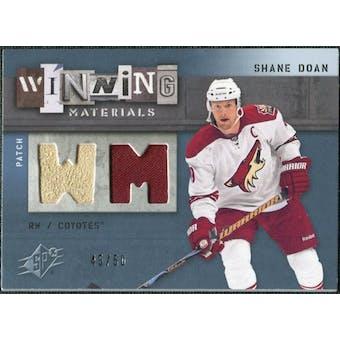 2009/10 Upper Deck SPx Winning Materials Spectrum Patches #WMSD Shane Doan /50
