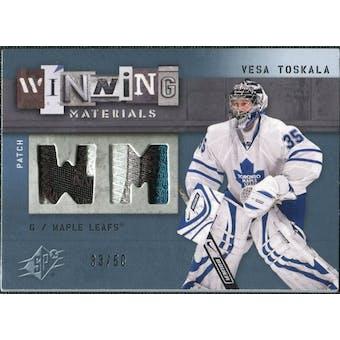 2009/10 Upper Deck SPx Winning Materials Spectrum Patches #WMVT Vesa Toskala /50