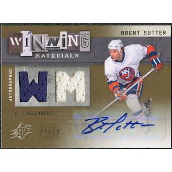 2009/10 Upper Deck SPx Winning Materials Autographs #AWMBS Brent Sutter Autograph /50