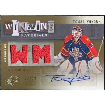 2009/10 Upper Deck SPx Winning Materials Autographs #AWMTV Tomas Vokoun Autograph /50