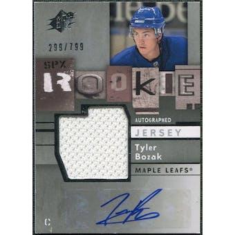 2009/10 Upper Deck SPx #173 Tyler Bozak RC Jersey Autograph /799