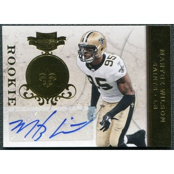 2011 Plates and Patches Signatures Gold #153 Martez Wilson RC Autograph /25