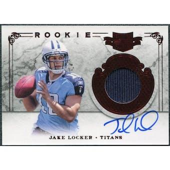 2011 Panini Plates and Patches #206 Jake Locker Jersey Autograph /299