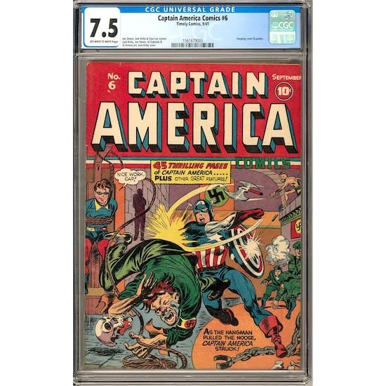 Captain America Comics #6 CGC 7.5 (OW-W) *1561679003*