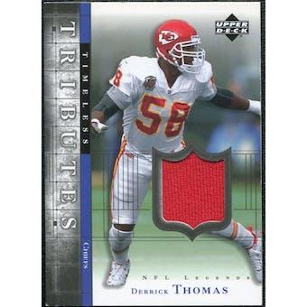 2001 Upper Deck Legends Timeless Tributes Jersey #TTDT Derrick Thomas