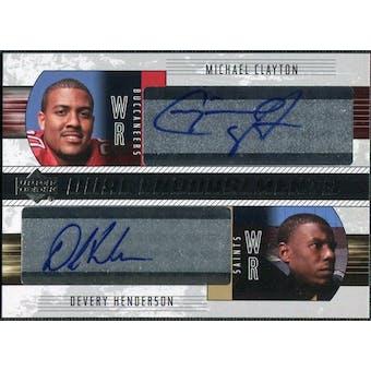 2004 Upper Deck Foundations Dual Endorsements #DECH Michael Clayton Devery Henderson Autograph