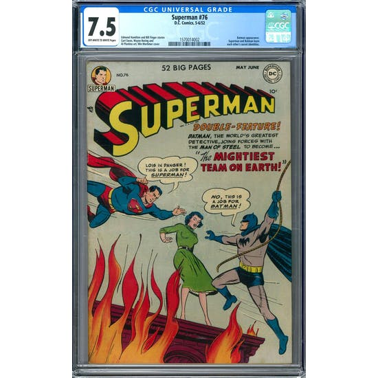 Superman #76 CGC 7.5 (OW-W) *1570014002*