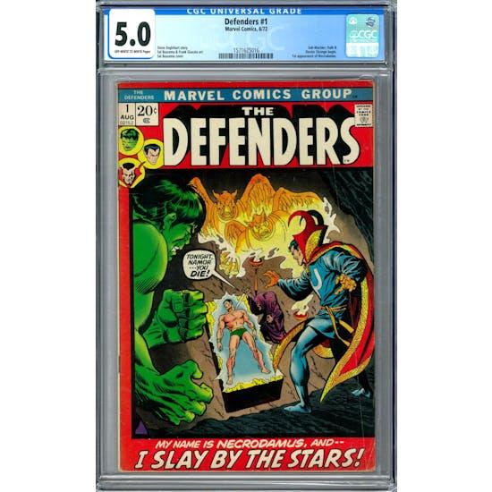Defenders #1 CGC 5.0 (OW-W) *1571625016*