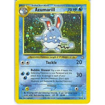 Pokemon Neo Genesis 1st Edition Single Azumarill 2/111 - SLIGHT PLAY (SP)