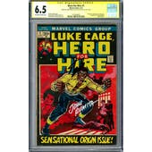 Hero For Hire #1 CGC 6.5 Stan Lee Signature Series (OW-W) *1575264002*