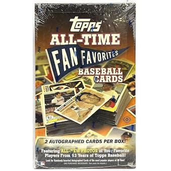 2004 Topps All Time Fan Favorites Baseball Hobby Box