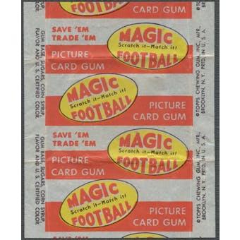 1951 Topps Magic Football Wrapper