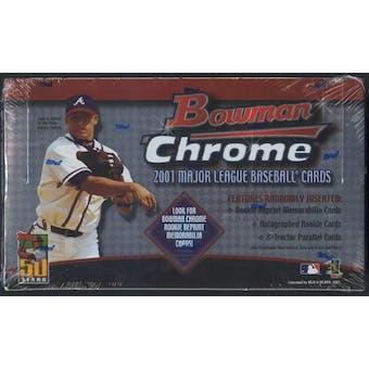 2001 Bowman Chrome Baseball Retail 24 Pack Box