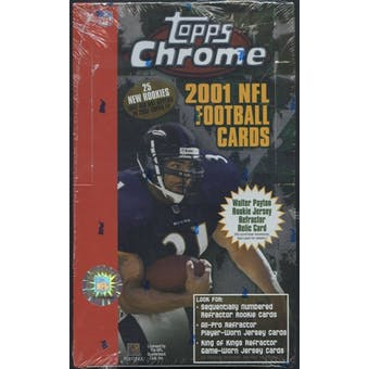 2001 Topps Chrome Football 24-Pack Retail Box
