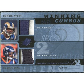 2009 Upper Deck SPx Winning Combos Patch #AR Donnie Avery/Eddie Royal /25