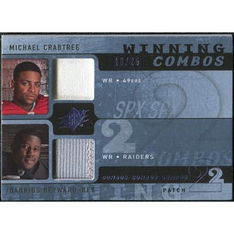 2009 Upper Deck SPx Winning Combos Patch #CH Michael Crabtree/Darrius Heyward-Bey /25