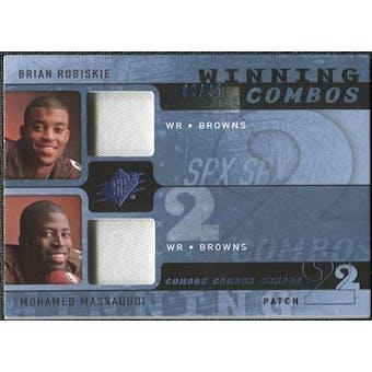 2009 Upper Deck SPx Winning Combos Patch #RM Brian Robiskie/Mohamed Massaquoi /25