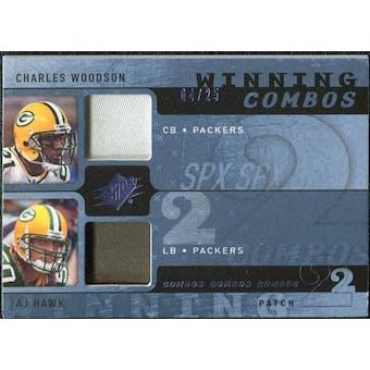 2009 Upper Deck SPx Winning Combos Patch #WH Charles Woodson/A.J. Hawk /25