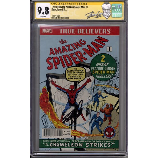 True Believers: Amazing Spider-Man #1 Stan Lee Sig Series CGC 9.8 (W) *1581704022*
