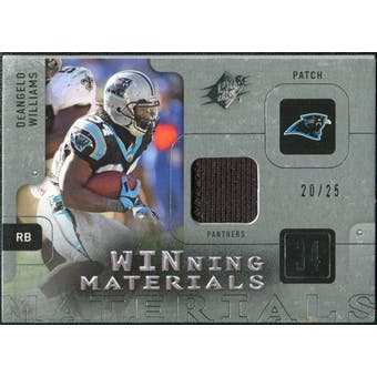 2009 Upper Deck SPx Winning Materials Patch Platinum #WDW DeAngelo Williams /25