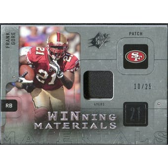 2009 Upper Deck SPx Winning Materials Patch Platinum #WFG Frank Gore /25
