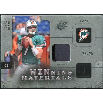 2009 Upper Deck SPx Winning Materials Patch Platinum #WHE Chad Henne /25