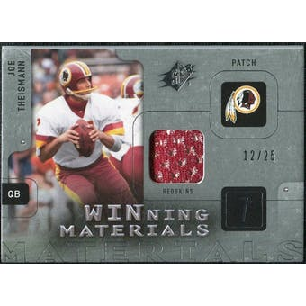 2009 Upper Deck SPx Winning Materials Patch Platinum #WJT Joe Theismann 12/25