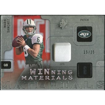 2009 Upper Deck SPx Winning Materials Patch Platinum #WSA Mark Sanchez /25