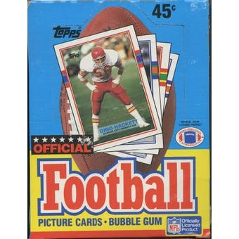 1989 Topps Football Wax Box