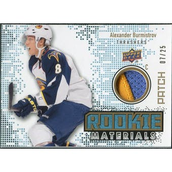 2010/11 Upper Deck Rookie Materials Patches #RMBU Alexander Burmistrov /25