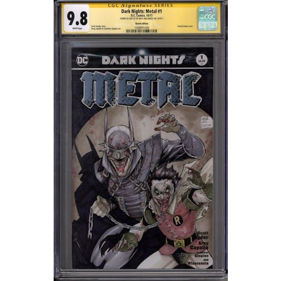 Dark Nights: Metal #1 Nate Melendez Signature Series w/ Sketch CGC 9.8 (W) *1589891009*