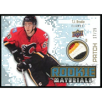 2010/11 Upper Deck Rookie Materials Patches #RMTB T.J. Brodie 17/25