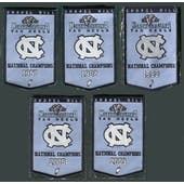 2010/11 Upper Deck UNC North Carolina Basketball Championship Mini-Banner Set of 5