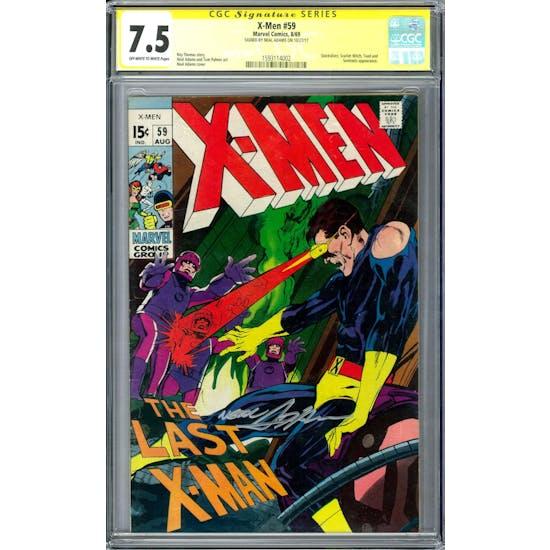 X-Men #59 CGC 7.5 Signature Series Neal Adams (OW-W) *1593114002*