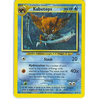 Pokemon Neo Discovery Single Kabutops 6/75