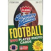 1990 Fleer Football Wax Box (Reed Buy)