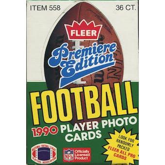 1990 Fleer Football Wax Box
