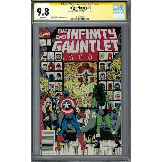 Infinity Gauntlet #2 Stan Lee Signature Series CGC 9.8 (W) *1596242006*