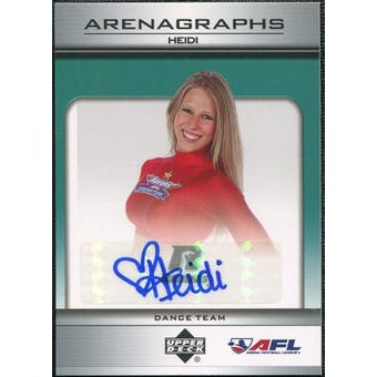 2006 Upper Deck AFL Arenagraphs #DHE Dancer: Heidi Autograph